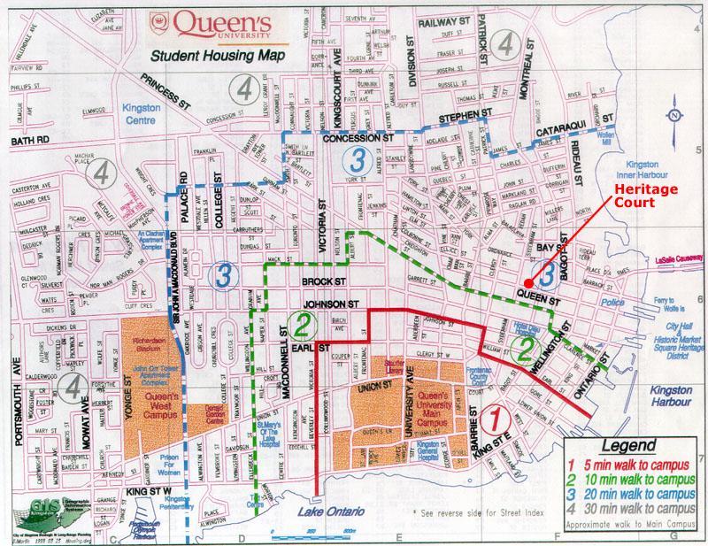Queens Walking Distance Map